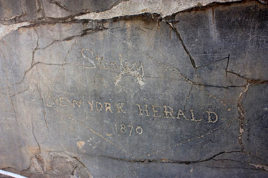 Graffiti Stanley left on the Gate of All Lands at Persepolis, Iran.