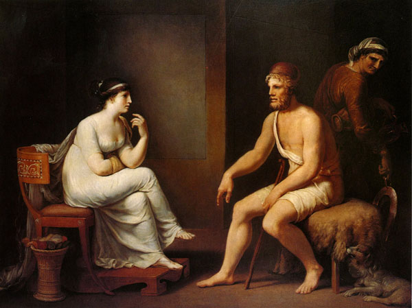 """Odysseus and Penelope"" by Johann H.W. Tischbein, 1802."