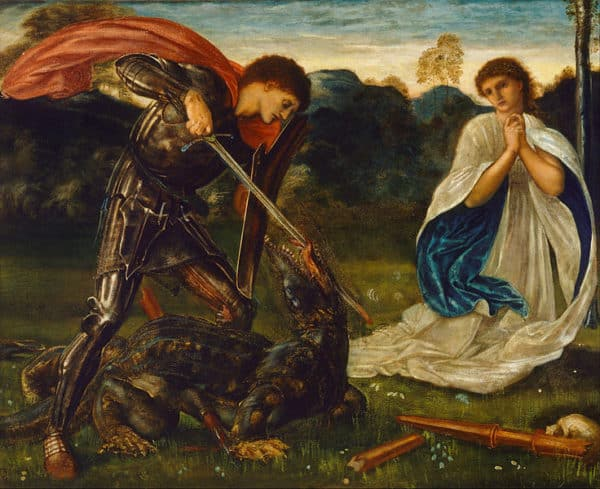 The Fight: St. George Kills the Dragon by Edward Burne-Jones