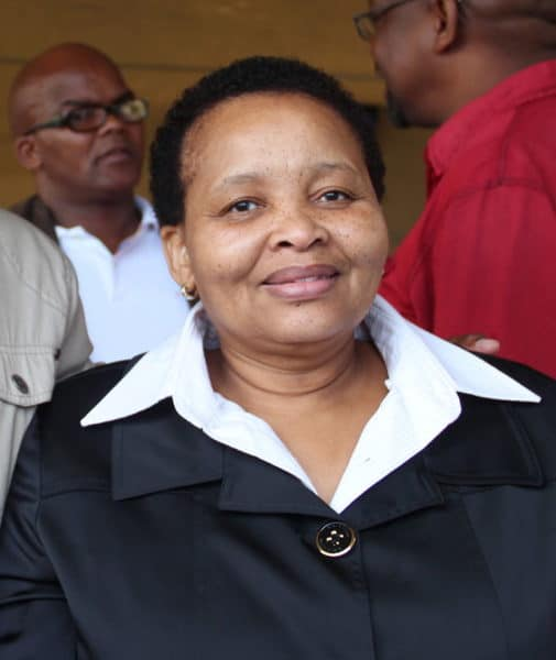 Minister of Agriculture and Land Affairs Lulu Xingwana